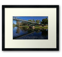 Uni Footbridge. Framed Print