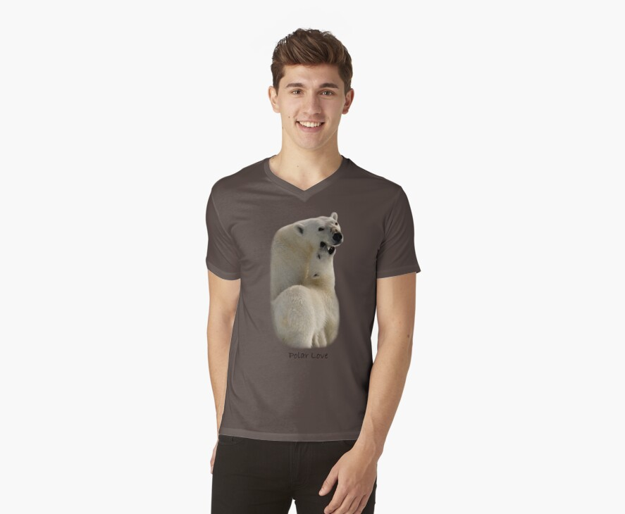 Polar Love - T-Shirt by Steve Bulford