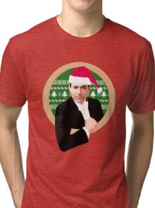 Downey's Ducklings' holiday sweater (#2) Tri-blend T-Shirt