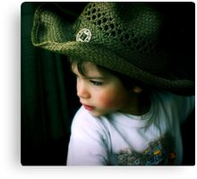 big man little hat Canvas Print