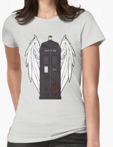 SuperWhoLock Tardis Womens Fitted T-Shirt