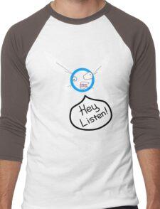 Hey Listen! Men's Baseball ¾ T-Shirt