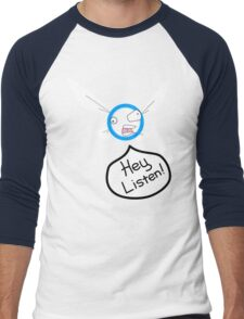 Hey Listen! Men's Baseball ¾ T-Shirt