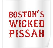Boston Wicked Pissah Red Poster