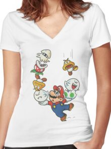 Mario Women's Fitted V-Neck T-Shirt