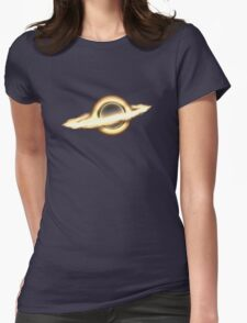 Interstellar, Black hole, Portal, Infinity, Universe, Outer Space, Star Womens Fitted T-Shirt