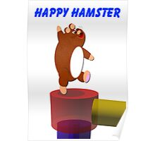Happy Hamster Print Poster