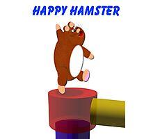 Happy Hamster Print Photographic Print