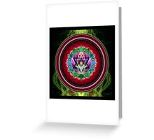 Chakra: 4 Heart Chakra Greeting Card