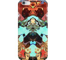 Faces In Abstract Shapes 2 iPhone Case/Skin