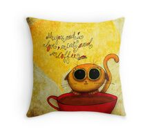 What my #Coffee says to me - May 10, 2014 Pillow Throw Pillow