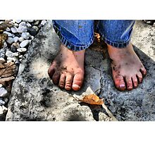 Dirty Little Feet  Photographic Print