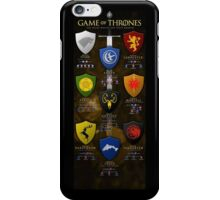 Game of Thrones Major Houses iPhone Case/Skin
