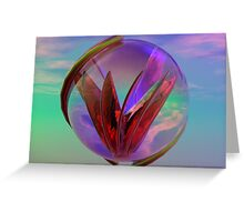 Love In A Glass Greeting Card
