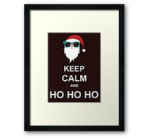 Keep Calm And Ho Ho Ho Framed Print