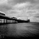 Cloud of starlings - Brighton Pier by JLaverty