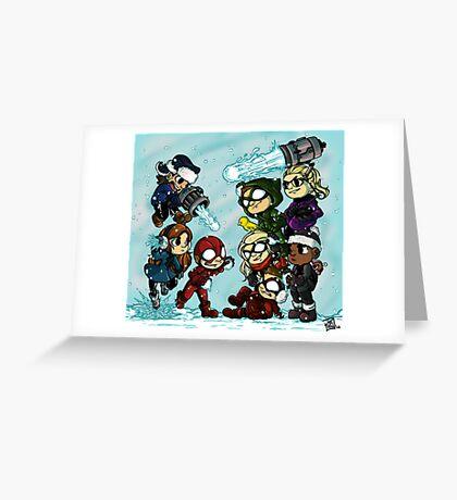 Flarrow Snowball Fight! Greeting Card