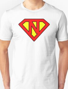 N letter in Superman style Unisex T-Shirt