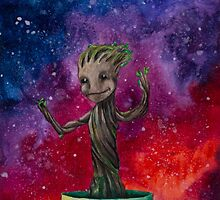 Groot in the Universe by LadyElizabeth