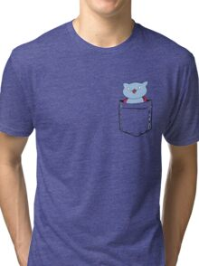 Pocket-Catbug Tri-blend T-Shirt