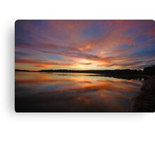 Dawn's Canvas - Narrabeen Lakes, Sydney Australia Canvas Print