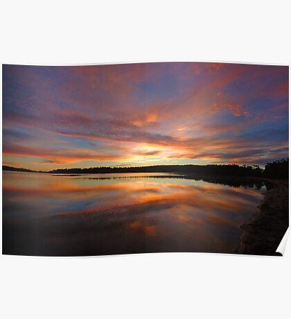 Dawn's Canvas - Narrabeen Lakes, Sydney Australia Poster