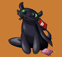 Pocky Toothless by InsaneGoga