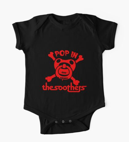 Pop in the soothers by lilterra.com One Piece - Short Sleeve