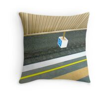 abstract in the everyday (ear in a box) Throw Pillow
