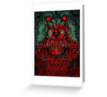 Werewolf shape Print/case Greeting Card