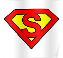 S letter in Superman style Poster