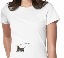 Dachs trot Womens Fitted T-Shirt