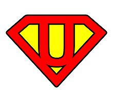 U letter in Superman style Photographic Print