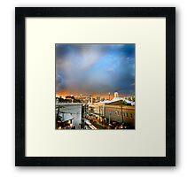 Storm over Sydney Framed Print