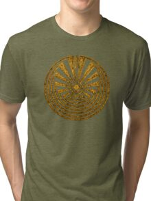 Man in the Maze, Journey through life, I'itoi, Papago Tri-blend T-Shirt