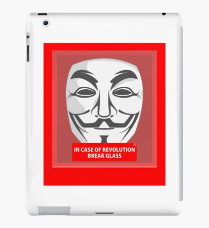 In case of revolution iPad Case/Skin