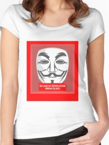 In case of revolution Women's Fitted Scoop T-Shirt