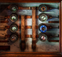 Steampunk - Electrical - The fuse panel Sticker