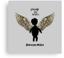 Depeche Mode : Playing the Angel - Wings - Black Canvas Print