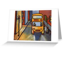 The bus stop Greeting Card
