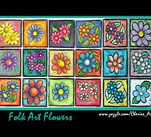 Folk Art Flowers by Cherie Balowski