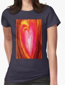 love, romance, valentines day, valentine, abstract, geometric Womens Fitted T-Shirt