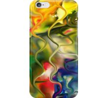 abstract art, blue, green, red, black, dark, iPhone Case/Skin
