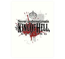 King of Hell Art Print