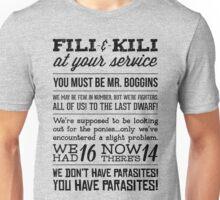 [The Hobbit] Fili & Kili (Dark text) Unisex T-Shirt