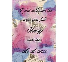 I fell in Love  Photographic Print