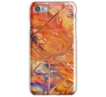 abstract art blue green red iPhone Case/Skin