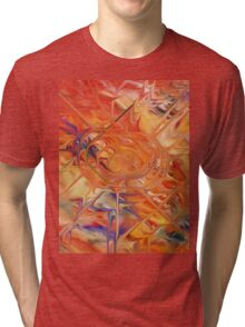 abstract art blue green red Tri-blend T-Shirt