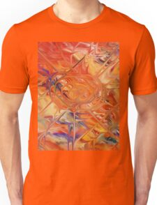 abstract art blue green red Unisex T-Shirt