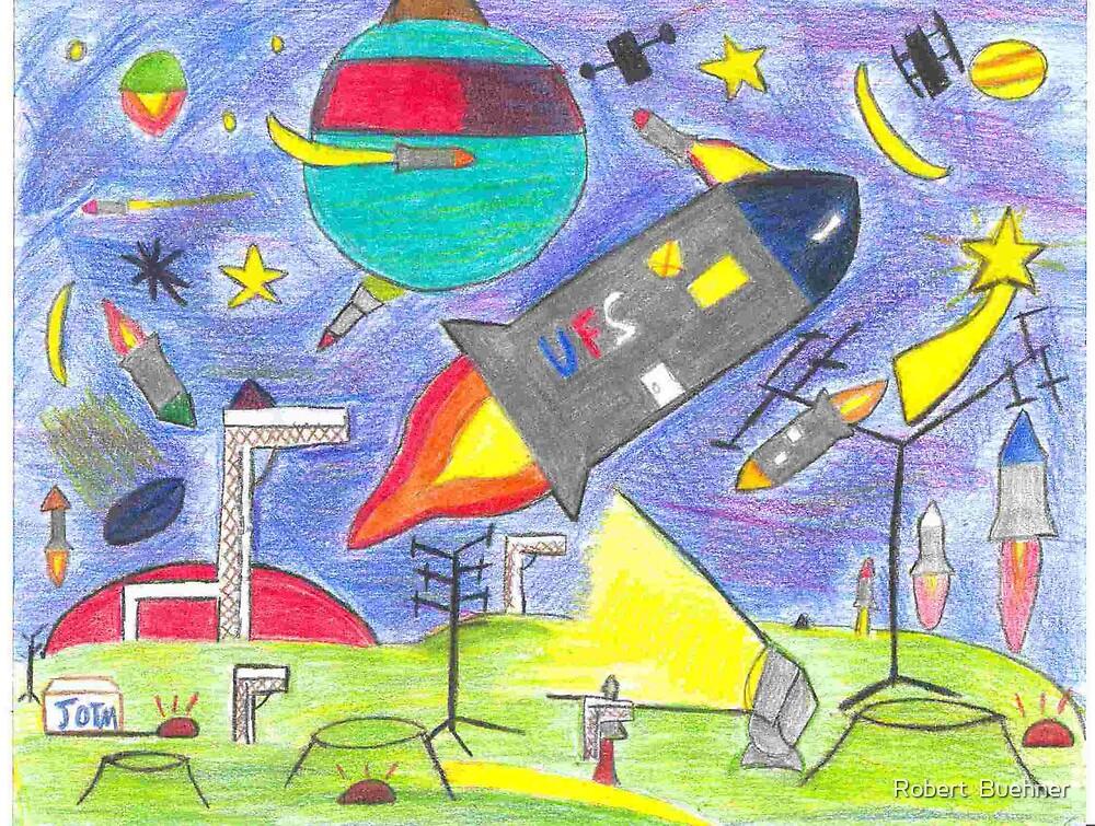 Destruction of the Moon c.2007 by Robert Buehner by Robert  Buehner